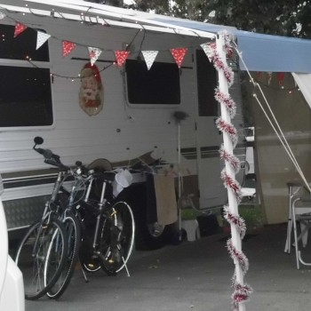 Many guests decorate their caravans during Christmas